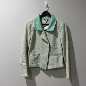 J crew Collection Green Tweed Jacket size 6